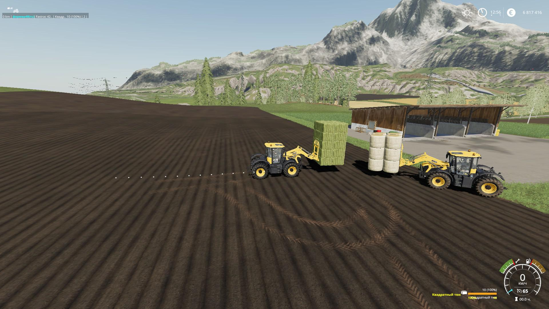 Forks with bale loading v1 0 FS 19