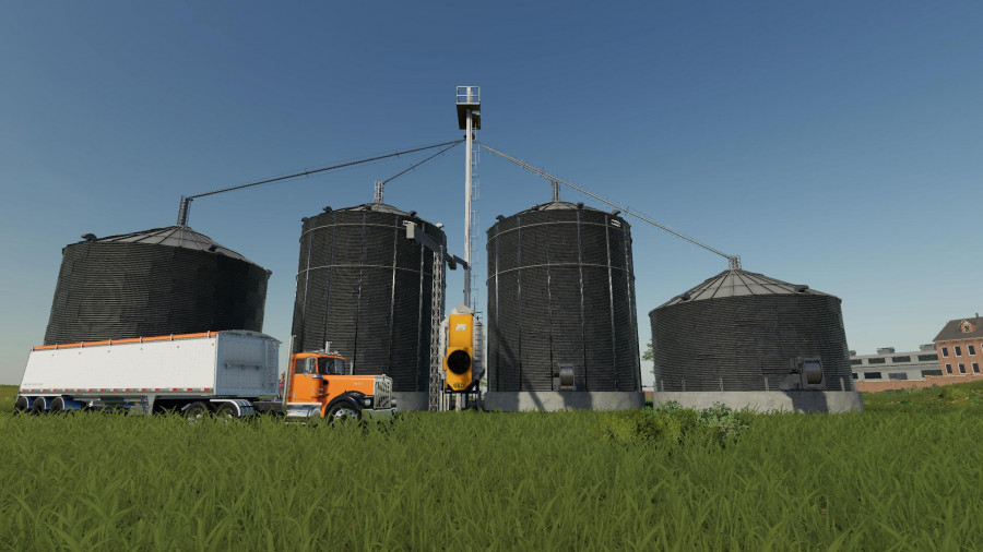 Large grain silo with dryer v1 0 FS 19