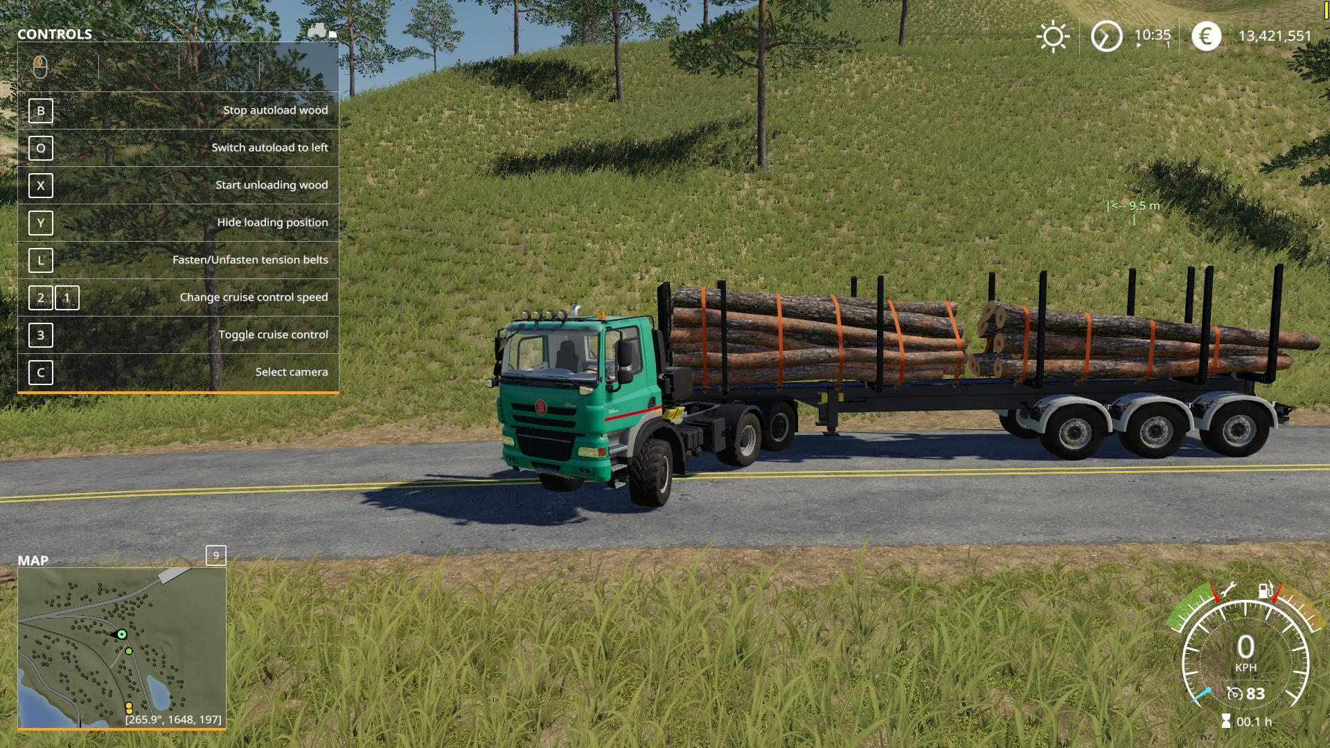 Timber Runner Wide With Autoload Wood v1 0 FS 19
