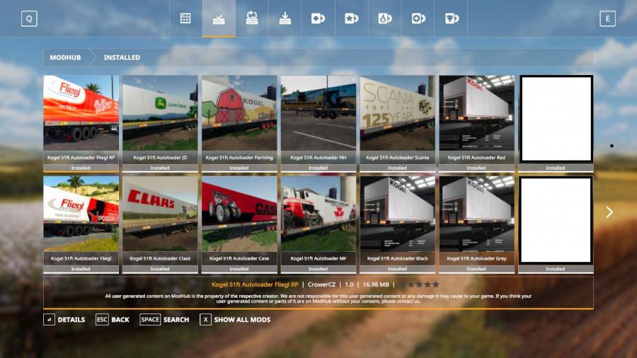 FS19 Mega Kogel Trailers Pack v1 0 FS 19