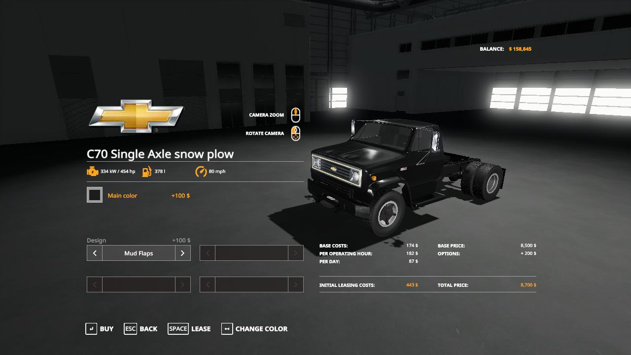 Chevy C70 snow plow truck v1 0 FS 19
